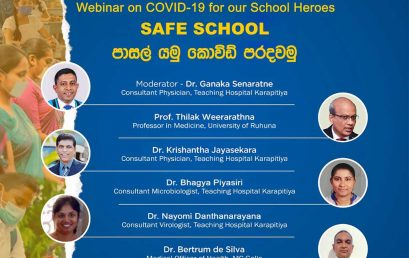 Webinar on COVID-19 for Our School Heroes